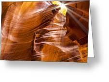 Antelope Canyon Sunrays Greeting Card