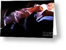 Antelope Slot Canyons Greeting Card by Ryan Kelly