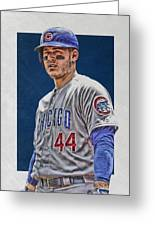 Anthony Rizzo Chicago Cubs 3 Greeting Card