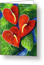 Anthurium Flowers #272 Greeting Card