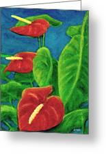 Anthurium Flowers #296 Greeting Card
