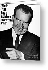 Anti-nixon Poster, 1960 - To License For Professional Use Visit Granger.com Greeting Card