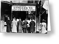 Anti-suffrage Association Greeting Card