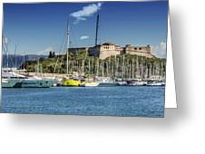 Antibes Fort Carre And Port Vauban  Greeting Card