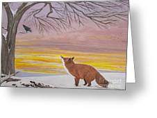 Anticipation -  Red Fox Greeting Card
