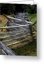 Antietam Fenceline Greeting Card by Judi Quelland
