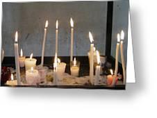 Antigua Church Candles Greeting Card