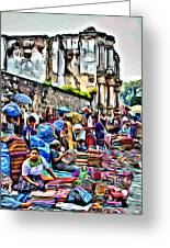 Antigua Market Greeting Card