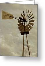 Antique Aermotor Windmill Greeting Card