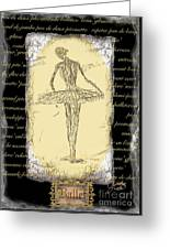 Antique Ballet Greeting Card