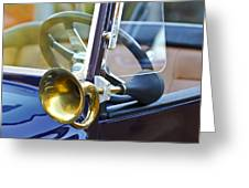 Antique Brass Car Horn Greeting Card