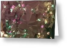 Antique Bronze Abstract Low Polygon Background Greeting Card