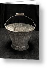 Antique Bucket For Your Modern List Greeting Card