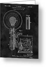 Antique Camera Flash Patent Greeting Card