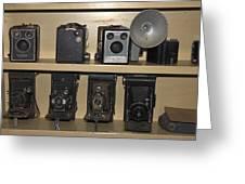 Antique Cameras Greeting Card
