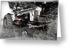 Antique Case Tractor Greeting Card