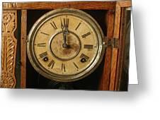 Antique Clock 3 Greeting Card