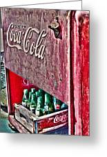 Antique Coca Cola Coke Refrigerator Greeting Card