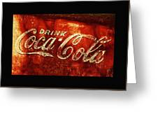 Antique Coca-cola Cooler II Greeting Card