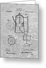 Antique Coffee Percolator Patent Greeting Card