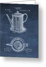 Antique Coffee Pot Patent Greeting Card