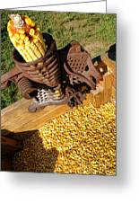 Antique Corn Sheller Greeting Card