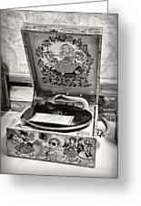 Antique Decca Gramophone By Kaye Menner Greeting Card