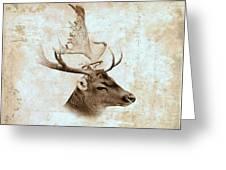Antique Deer Greeting Card