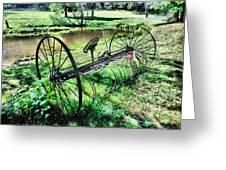 Antique Farm Equipment 3 Greeting Card