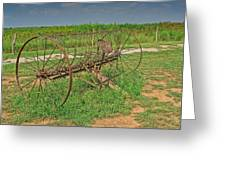 Antique Farm Rake Greeting Card