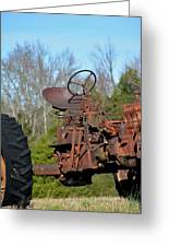 Antique Farmall Tractor 4a Greeting Card