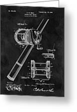 Antique Fishing Reel Patent Greeting Card