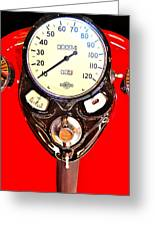 Antique Harley Fuel Tank Greeting Card