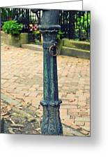 Antique Hitching Post Greeting Card