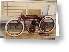 Antique Indian Motorcycle Red...   # Greeting Card