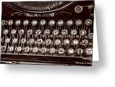 Antique Keyboard - Sepia Greeting Card
