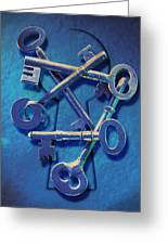 Antique Keys Greeting Card