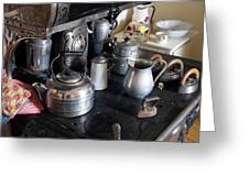Antique Kitchen Stove Greeting Card