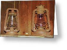 Antique Lamps Greeting Card