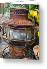 Antique Lantern Greeting Card