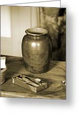 Antique Laundry And Clothes Pins In Sepia Photograph Greeting Card