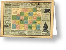 Antique Map Of The Mclean County - Business Advertisements - Historical Map Greeting Card