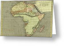 Antique Maps - Old Cartographic Maps - Antique Map Of Africa Greeting Card