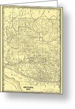 Map Of Old Arizona.Antique Maps Old Cartographic Maps Antique Map Of Arizona 1881 By Studio Grafiikka