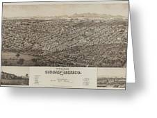 Antique Maps - Old Cartographic Maps - Antique Map Of Ciudad, Mexico, 1890 Greeting Card