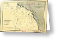 Antique Maps - Old Cartographic Maps - Antique Map Of Lompoc Landing, California, 1888 Greeting Card