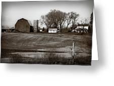 Antique Michigan Farm Greeting Card