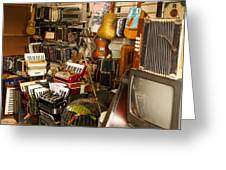 Antique Music Store Greeting Card