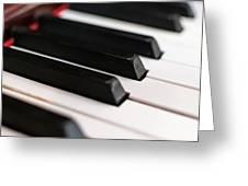 Antique Piano Keys Greeting Card