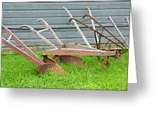 Antique Plows Greeting Card